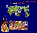 Street Fighter II': Special Champion Edition TurboGrafx-16 Character select