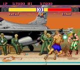 Street Fighter II': Special Champion Edition TurboGrafx-16 Sagat hits Guile with a Tiger-Uppercut