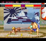 Street Fighter II': Special Champion Edition TurboGrafx-16 Dhalsim uses hid long arms to hit Honda