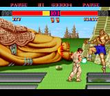Street Fighter II': Special Champion Edition TurboGrafx-16 Ryu dodges Sagat's Tiger Shot and counterattacks with a Dragon Punch