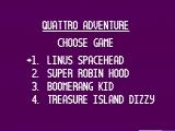 Quattro Adventure NES Choose a game!