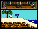 Quattro Adventure NES The starting location (Treasure Island Dizzy)