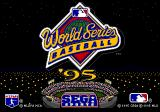 World Series Baseball '95 Genesis Title screen