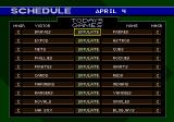 World Series Baseball '95 Genesis A season schedule
