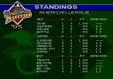 World Series Baseball '95 Genesis Standings