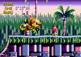 Knuckles' Chaotix SEGA 32X Some power-ups make you grow large.