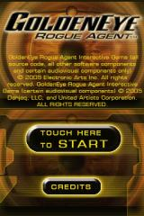 GoldenEye: Rogue Agent Nintendo DS Title screen.