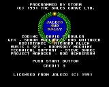 Big Run Amiga Credits screen