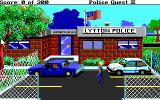 Police Quest 2: The Vengeance DOS Outside the police station (EGA/MCGA/Tandy)
