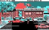Police Quest 2: The Vengeance DOS Begin the game outside the police station (CGA)
