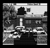 Police Quest 2: The Vengeance DOS Outside the police station (Hercules Monochrome)