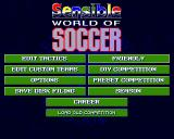 Sensible World of Soccer Amiga Main menu