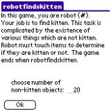 robotfindskitten Palm OS Introduction