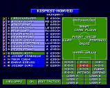Sensible World of Soccer Amiga Choosing tactics for first match