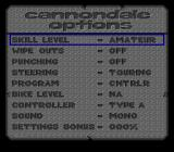 Cannondale Cup SNES Options screen