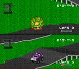 RPM Racing SNES My car took too much damage and I exploded.