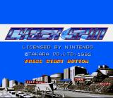 Cyber Spin SNES Title screen