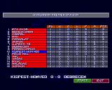 Sensible World of Soccer Amiga Hungarian table after 1st match day