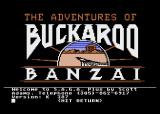 The Adventures of Buckaroo Banzai: Across the Eighth Dimension Atari 8-bit I am being welcomed.