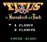 Titus the Fox: To Marrakech and Back Game Boy Color Title screen and main menu