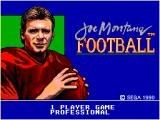 Joe Montana Football SEGA Master System Selecting the modes (I did not go with professional I am not that good).