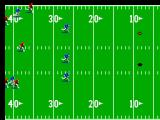 Joe Montana Football SEGA Master System The kick-off as everyone runs after the ball.