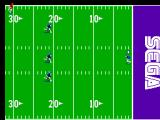 Joe Montana Football SEGA Master System The kick-off is caught and the game begins.
