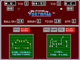 Joe Montana Football SEGA Master System The plays selection screen where I pick the next play, in this case trying to find a play to defend their play.