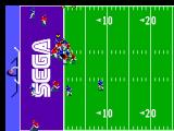Joe Montana Football SEGA Master System Getting close to them scoring.