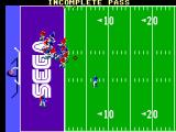 Joe Montana Football SEGA Master System Lucky for me it was an incomplete pass.