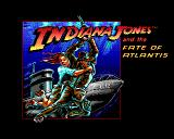 Indiana Jones and The Fate of Atlantis: The Action Game Amiga Title screen