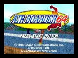 Air Boarder 64 Nintendo 64 Title screen