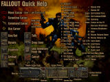 Fallout Windows Quick Help: Game controls is always the most direct way to give the player an idea of the game play.