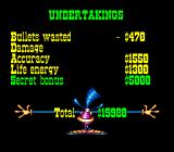 Tin Star SNES Statistics get converted to cash amounts.