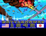Battlehawks 1942 Amiga Title screen