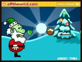 Fat Santa! Browser Gag! He ate a sprout.