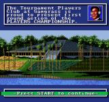 PGA Tour Golf SNES The game features announcers