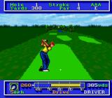 PGA Tour Golf SNES Taking a swing