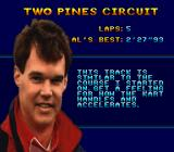Al Unser Jr.'s Road to the Top  SNES Before a race begins.