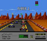 Al Unser Jr.'s Road to the Top  SNES Green light means go.