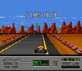Al Unser Jr.'s Road to the Top  SNES Number of laps to go.