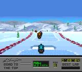 Al Unser Jr.'s Road to the Top  SNES Going over a ramp.