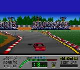 Al Unser Jr.'s Road to the Top  SNES Watch out for oil slicks.