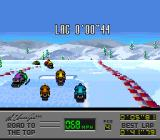 Al Unser Jr.'s Road to the Top  SNES How much time the player lags behind first