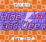 "Dancing Furby Game Boy Color Another song title ""Ride and Deen"""