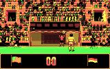 Rick Davis's World Trophy Soccer DOS Taking a shot (CGA).