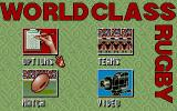 World Class Rugby: Five Nations Edition DOS Main menu (VGA)