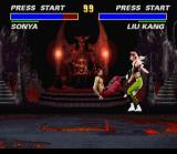 Ultimate Mortal Kombat 3 SNES Old favourite Liu Kang hits Sonya with his famous bicycle kick