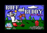 Ruff and Reddy in the Space Adventure Amstrad CPC Title screen