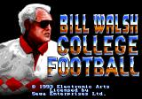 Bill Walsh College Football  Genesis Title screen